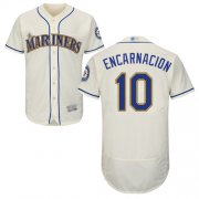 Wholesale Cheap Mariners #10 Edwin Encarnacion Cream Flexbase Authentic Collection Stitched MLB Jersey