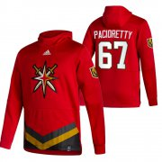 Wholesale Cheap Vegas Golden Knights #67 Max Pacioretty Adidas Reverse Retro Pullover Hoodie Red
