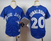 Wholesale Cheap Blue Jays #20 Josh Donaldson Blue Cool Base Stitched Youth MLB Jersey