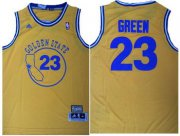 Wholesale Cheap Men's Golden State Warriors #23 Draymond Green Yellow Hardwood Classics Soul Swingman Throwback Jersey