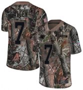 Wholesale Cheap Nike Panthers #7 Kyle Allen Camo Men's Stitched NFL Limited Rush Realtree Jersey