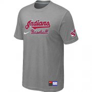 Wholesale Cheap Nike Cleveland Indians Short Sleeve Practice T-Shirt Light Grey
