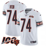 Wholesale Cheap Nike Bears #74 Germain Ifedi White Men's Stitched NFL 100th Season Vapor Untouchable Limited Jersey