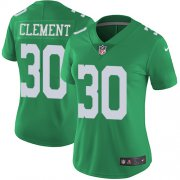Wholesale Cheap Nike Eagles #30 Corey Clement Green Women's Stitched NFL Limited Rush Jersey