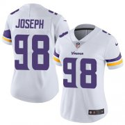 Wholesale Cheap Nike Vikings #98 Linval Joseph White Women's Stitched NFL Vapor Untouchable Limited Jersey