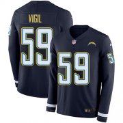 Wholesale Cheap Nike Chargers #59 Nick Vigil Navy Blue Team Color Men's Stitched NFL Limited Therma Long Sleeve Jersey