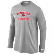 Wholesale Cheap Nike Tampa Bay Buccaneers Heart & Soul Long Sleeve T-Shirt Grey