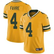 Wholesale Cheap Nike Packers #4 Brett Favre Yellow Youth Stitched NFL Limited Rush Jersey