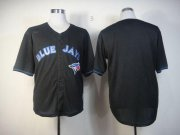 Wholesale Cheap Blue Jays Blank Black Fashion Stitched MLB Jersey