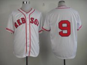 Wholesale Cheap Red Sox #9 Ted Williams White 1936 Turn Back The Clock Stitched MLB Jersey