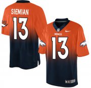 Wholesale Cheap Nike Broncos #13 Trevor Siemian Orange/Navy Blue Men's Stitched NFL Elite Fadeaway Fashion Jersey