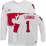 Wholesale Cheap Olympic 2014 CA. #1 Roberto Luongo White Stitched NHL Jersey