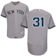 Wholesale Cheap Yankees #31 Aaron Hicks Grey Flexbase Authentic Collection Stitched MLB Jersey