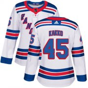 Wholesale Cheap Adidas Rangers #45 Kappo Kakko White Road Authentic Women's Stitched NHL Jersey