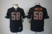 Wholesale Cheap Nike Broncos #58 Von Miller Black Impact Youth Stitched NFL Limited Jersey