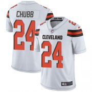 Wholesale Cheap Nike Browns #24 Nick Chubb White Youth Stitched NFL Vapor Untouchable Limited Jersey