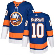 Wholesale Cheap Adidas Islanders #10 Derek Brassard Royal Blue Home Authentic Stitched NHL Jersey