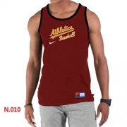 Wholesale Cheap Men's Nike Oakland Athletics Home Practice Tank Top Red