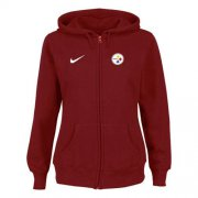 Wholesale Cheap Nike Pittsburgh Steelers Ladies Tailgater Full Zip Hoodie Red
