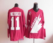 Wholesale Cheap Olympic 1991 CA. #11 Mark Messier Red CCM Throwback Stitched NHL Jersey