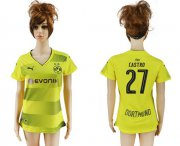 Wholesale Cheap Women's Dortmund #27 Castro Home Soccer Club Jersey