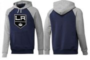 Wholesale Cheap Los Angeles Kings Pullover Hoodie Dark Blue & Grey