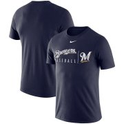 Wholesale Cheap Milwaukee Brewers Nike MLB Practice T-Shirt Navy