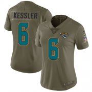 Wholesale Cheap Nike Jaguars #6 Cody Kessler Olive Women's Stitched NFL Limited 2017 Salute to Service Jersey