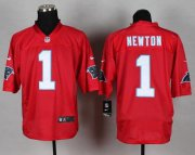 Wholesale Cheap Nike Panthers #1 Cam Newton Red Men's Stitched NFL Elite QB Practice Jersey