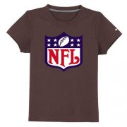 Wholesale Cheap NFL Logo Youth T-Shirt Brown