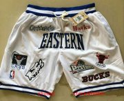 Wholesale Cheap All-Star Eastern White JUST DON By Mitchell & Ness Shorts
