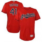 Wholesale Cheap Indians #41 Carlos Santana Red Flexbase Authentic Collection Stitched MLB Jersey