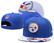 Wholesale Cheap Steelers Team Logo Blue Adjustable Hat TX
