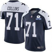 Wholesale Cheap Nike Cowboys #71 La'el Collins Navy Blue Thanksgiving Men's Stitched With Established In 1960 Patch NFL Vapor Untouchable Limited Throwback Jersey