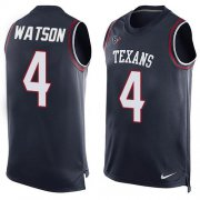 Wholesale Cheap Nike Texans #4 Deshaun Watson Navy Blue Team Color Men's Stitched NFL Limited Tank Top Jersey