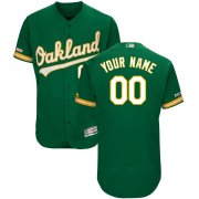 Wholesale Cheap Men's Oakland Athletics Majestic Kelly Green Alternate Flex Base Authentic Collection Custom Jersey