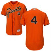 Wholesale Cheap Giants #4 Mel Ott Orange Flexbase Authentic Collection Stitched MLB Jersey
