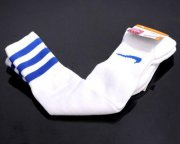 Wholesale Cheap Nike Soccer Football Sock White & Blue Stripe