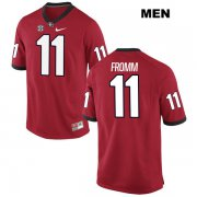 Wholesale Cheap Men's Georgia Bulldogs #11 Jake Fromm Red Stitched NCAA Nike College Football Jersey
