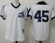 Wholesale Cheap Mitchell And Ness 1981 White Sox #45 Michael Jordan White Throwback Stitched MLB Jersey