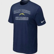 Wholesale Cheap Nike NFL Los Angeles Chargers Heart & Soul NFL T-Shirt Midnight Blue