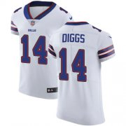 Wholesale Cheap Nike Bills #14 Stefon Diggs White Men's Stitched NFL New Elite Jersey