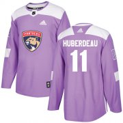 Wholesale Cheap Adidas Panthers #11 Jonathan Huberdeau Purple Authentic Fights Cancer Stitched Youth NHL Jersey
