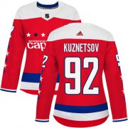 Wholesale Cheap Adidas Capitals #92 Evgeny Kuznetsov Red Alternate Authentic Women's Stitched NHL Jersey