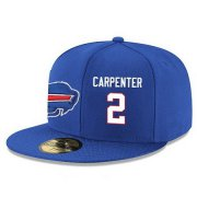 Wholesale Cheap Buffalo Bills #2 Dan Carpenter Snapback Cap NFL Player Royal Blue with White Number Stitched Hat