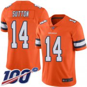 Wholesale Cheap Nike Broncos #14 Courtland Sutton Orange Men's Stitched NFL Limited Rush 100th Season Jersey