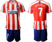 Wholesale Cheap Atletico Madrid #7 Joao Felix Home Soccer Club Jersey