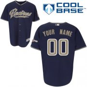 Wholesale Cheap Padres Customized Authentic Blue Cool Base MLB Jersey (S-3XL)