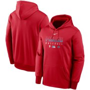 Wholesale Cheap Men's Philadelphia Phillies Nike Red Authentic Collection Therma Performance Pullover Hoodie