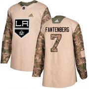 Wholesale Cheap Adidas Kings #7 Oscar Fantenberg Camo Authentic 2017 Veterans Day Stitched NHL Jersey